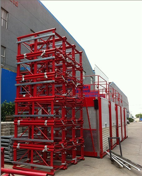 Lifting Construction Hoist Parts 2700kg / 3200kg Case Load Capacity